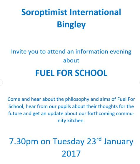 Jan 18 - Soroptimist International Bingley poster 1